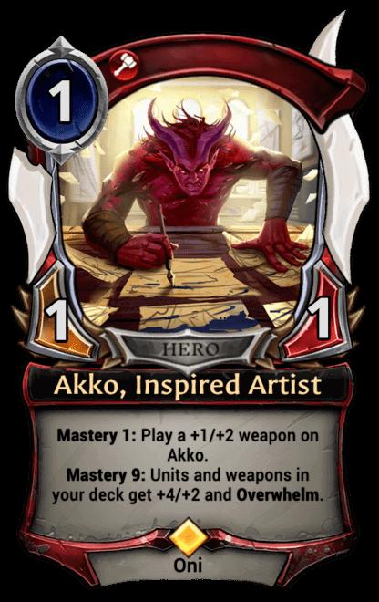 Card image for Akko, Inspired Artist