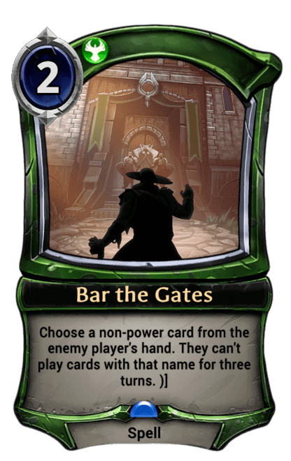 Card image for Bar the Gates
