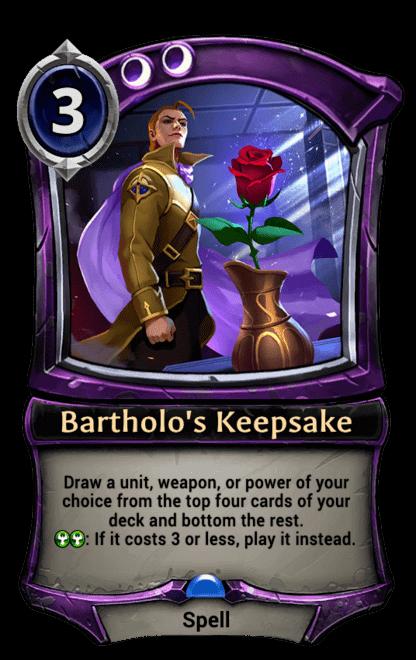 Card image for Bartholo's Keepsake