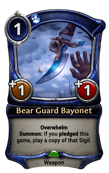 Card image for Bear Guard Bayonet