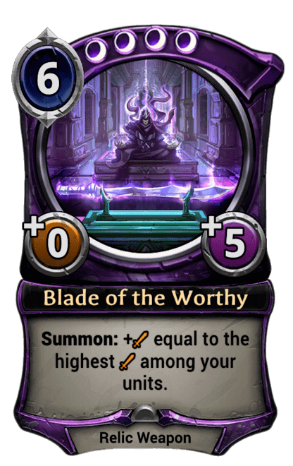 Card image for Blade of the Worthy