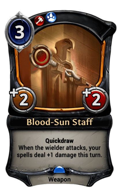 Card image for Blood-Sun Staff