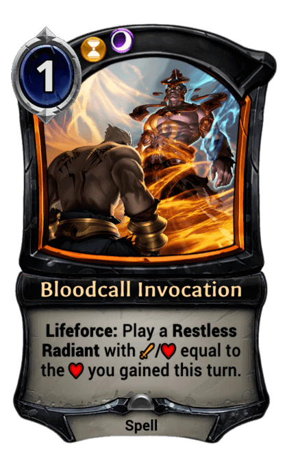 Card image for Bloodcall Invocation
