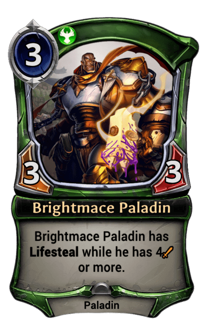 Card image for Brightmace Paladin