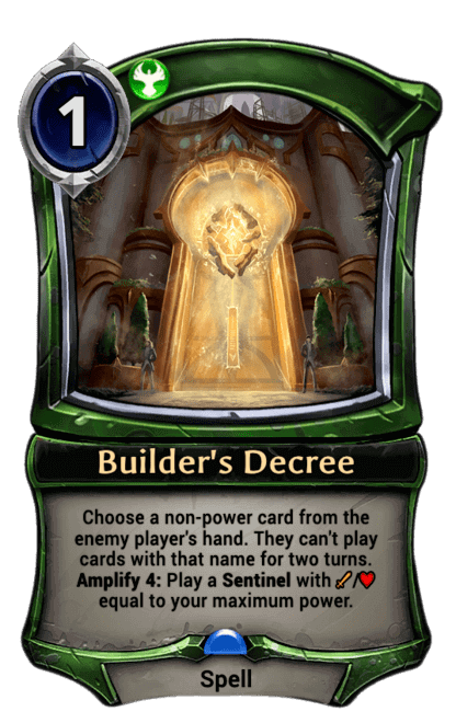 Card image for Builder's Decree