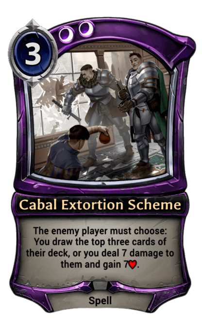 Card image for Cabal Extortion Scheme