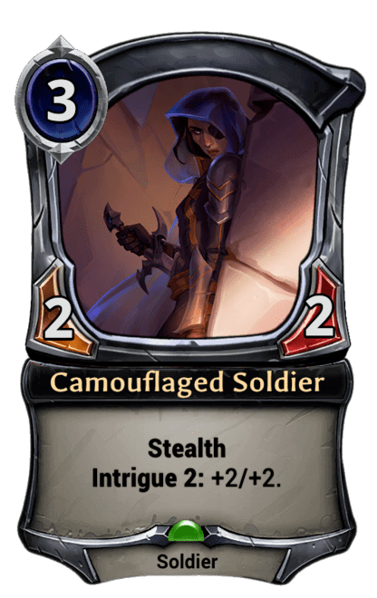 Card image for Camouflaged Soldier