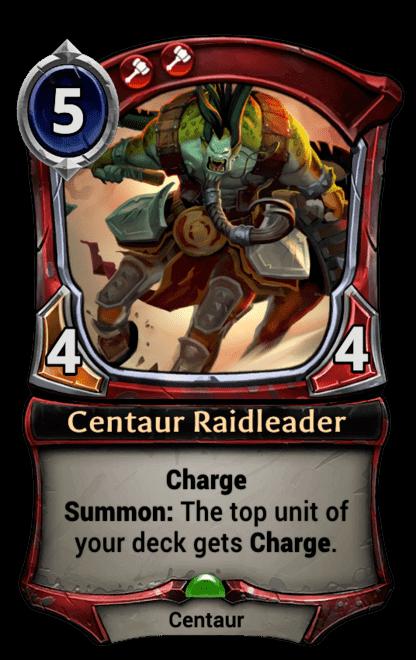 Card image for Centaur Raidleader