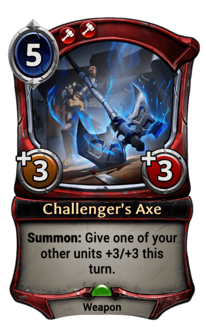 Card image for Challenger's Axe