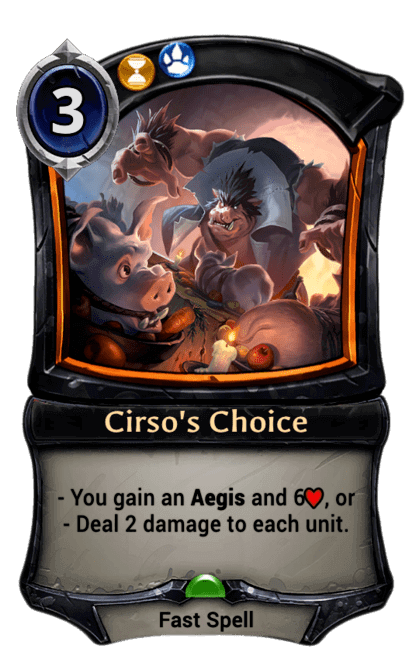 Card image for Cirso's Choice