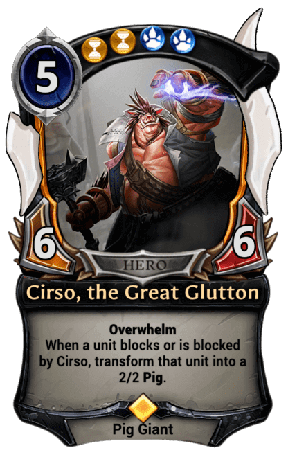 Card image for Cirso, the Great Glutton