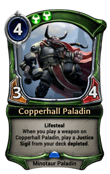 Card image for Copperhall Paladin