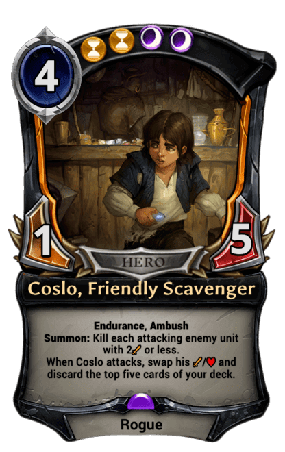 Coslo, Friendly Scavenger