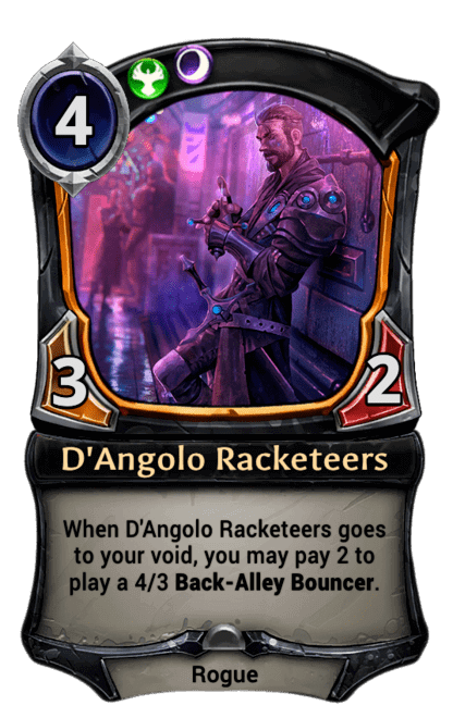 Card image for D'Angolo Racketeers