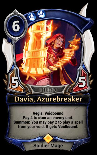 Card image for Davia, Azurebreaker