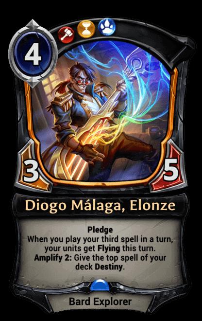 Diogo Málaga, Elonze