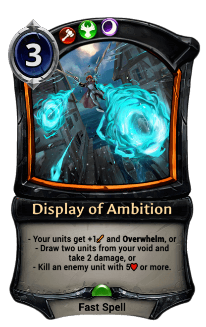 Card image for Display of Ambition