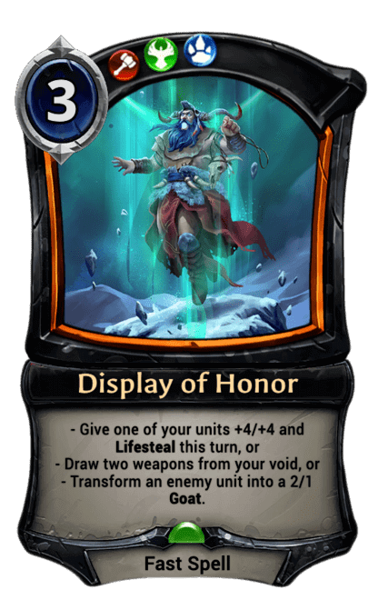 Card image for Display of Honor
