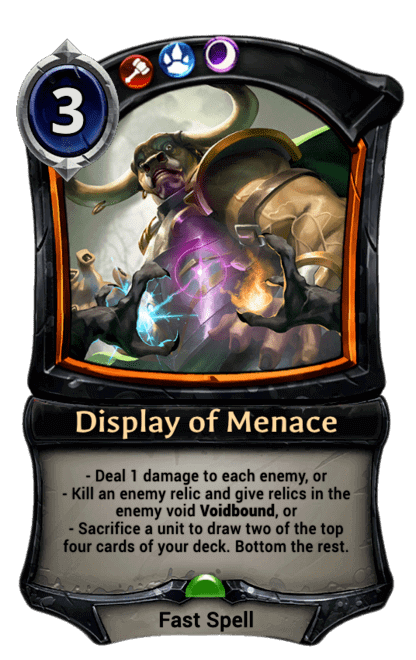 Card image for Display of Menace
