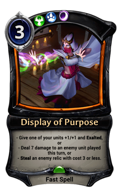 Card image for Display of Purpose