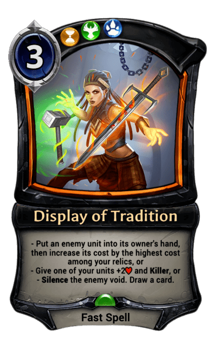 Card image for Display of Tradition