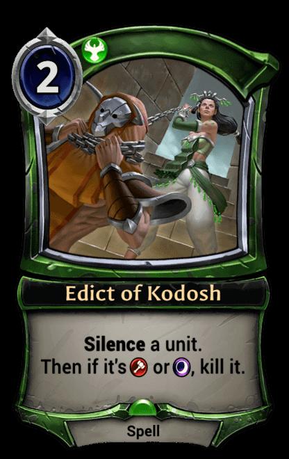Card image for Edict of Kodosh