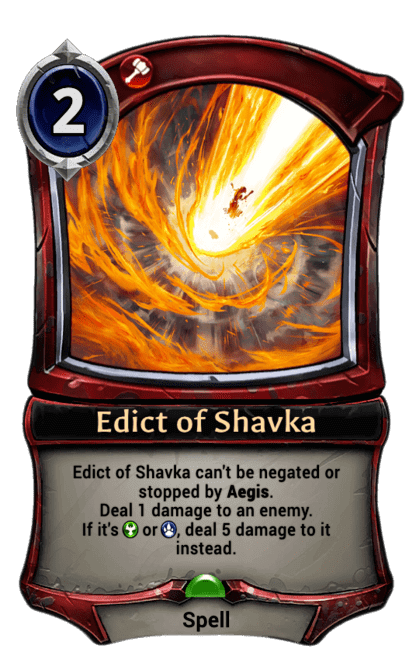 Card image for Edict of Shavka