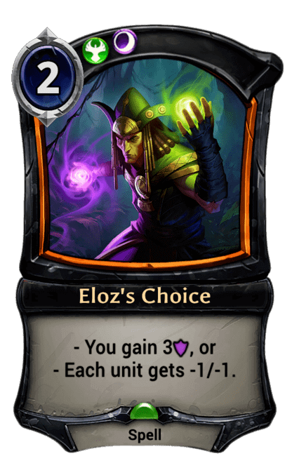 Card image for Eloz's Choice