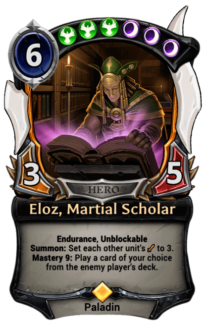 Card image for Eloz, Martial Scholar