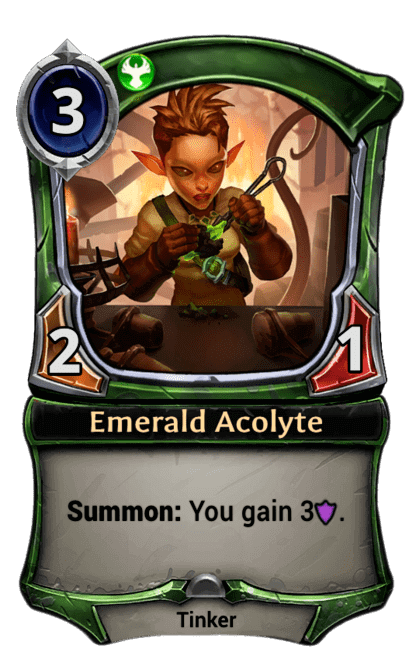 Card image for Emerald Acolyte
