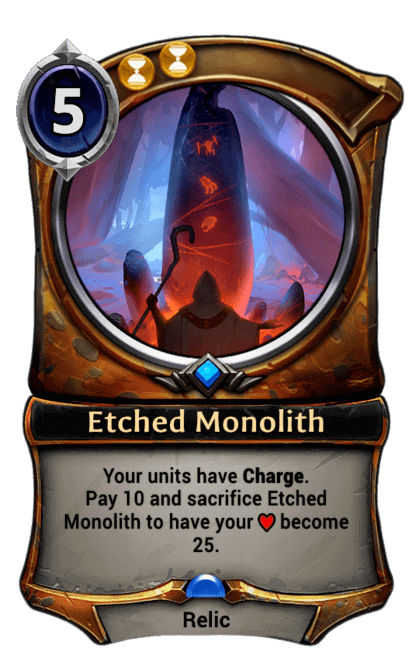 Card image for Etched Monolith
