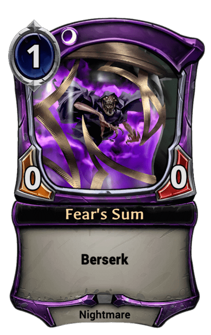 Card image for Fear's Sum