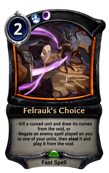 Card image for Felrauk's Choice