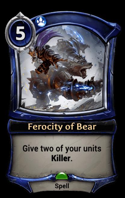 Card image for Ferocity of Bear