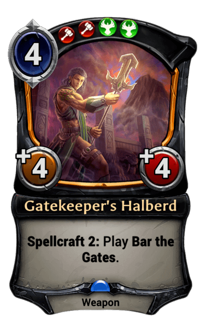 Card image for Gatekeeper's Halberd