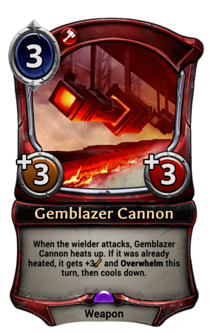 Card image for Gemblazer Cannon