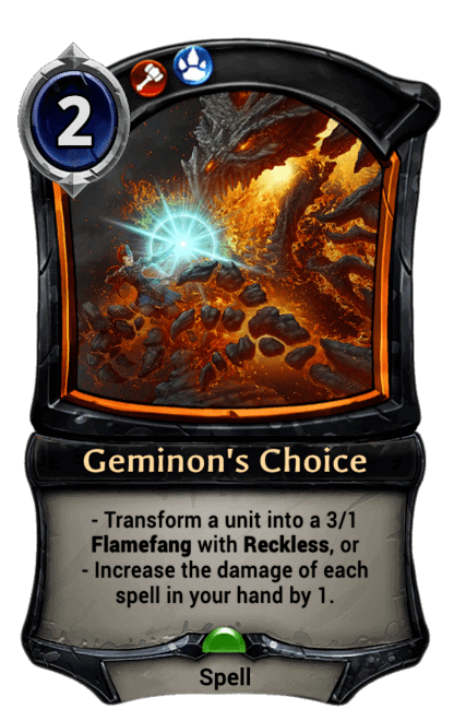 Card image for Geminon's Choice
