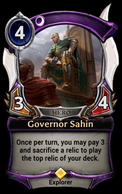 Card image for Governor Sahin