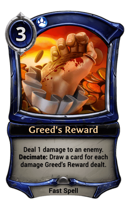 Card image for Greed's Reward
