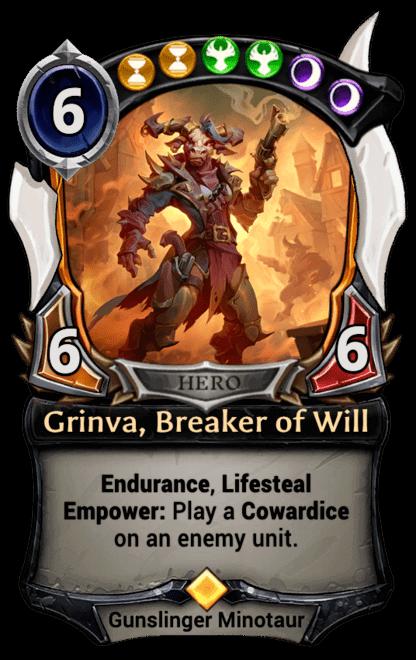 Card image for Grinva, Breaker of Will