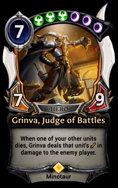 Card image for Grinva, Judge of Battles