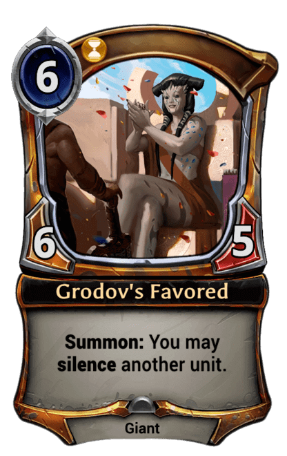 Card image for Grodov's Favored