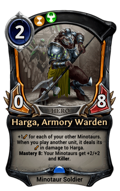 Card image for Harga, Armory Warden