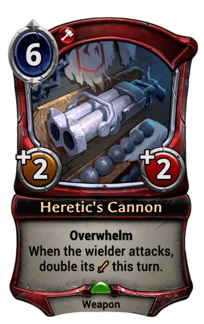 Card image for Heretic's Cannon