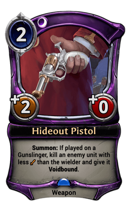 Card image for Hideout Pistol