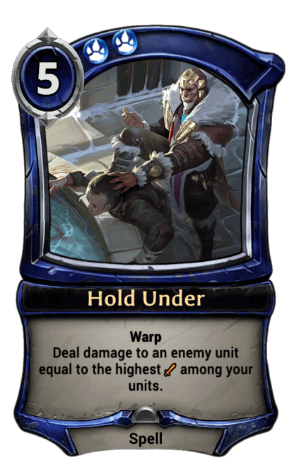 Card image for Hold Under