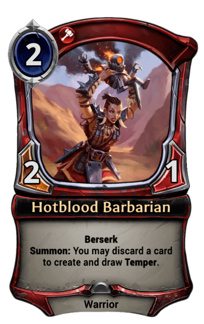 Card image for Hotblood Barbarian