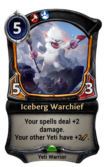 Card image for Iceberg Warchief