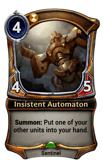 Card image for Insistent Automaton