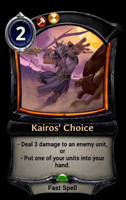 Card image for Kairos' Choice